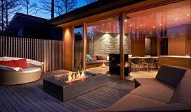 Wharf 65 [A] Fire Pit Table - In-Situ Image by EcoSmart Fire
