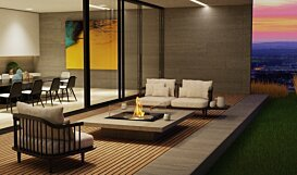 Square 22 Fireplace Insert - In-Situ Image by EcoSmart Fire