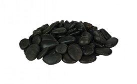 Large Black Pebbles v1 Fireplaces Outlet - Studio Image by EcoSmart Fire