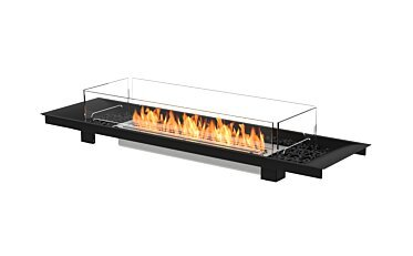 Linear Curved 65 Built-In - Studio Image by EcoSmart Fire