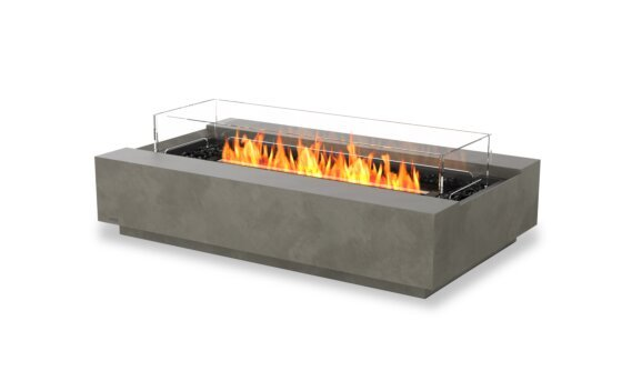 Cosmo 50 Fire Pit - Ethanol - Black / Natural / Optional Fire Screen by EcoSmart Fire