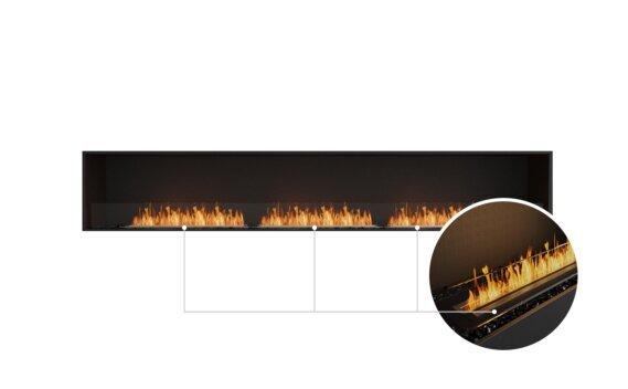 Flex 122SS Single Sided - Ethanol - Black / Black / Installed View by EcoSmart Fire