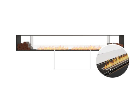 Flex 140DB.BX2 Double Sided - Ethanol - Black / Black / Installed View by EcoSmart Fire
