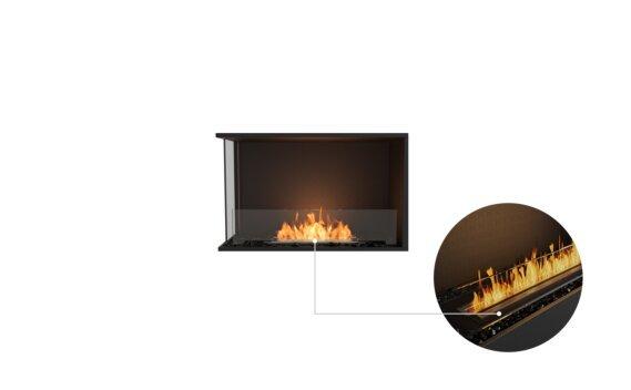 Flex 32LC Left Corner - Ethanol - Black / Black / Installed View by EcoSmart Fire