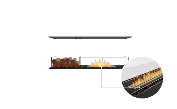 Flex 50IL.BX1 Island - Ethanol - Black / Black / Installed View by EcoSmart Fire