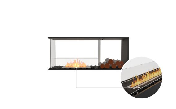 Flex 50PN.BXR Peninsula - Ethanol - Black / Black / Installed View by EcoSmart Fire