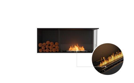 Flex 50RC.BXL Right Corner - Ethanol - Black / Black / Installed View by EcoSmart Fire