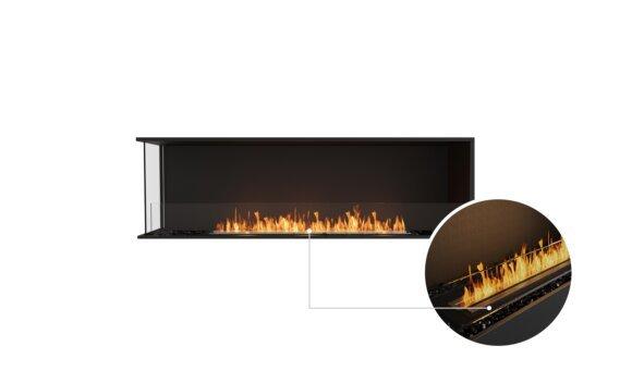 Flex 68LC Left Corner - Ethanol - Black / Black / Installed View by EcoSmart Fire
