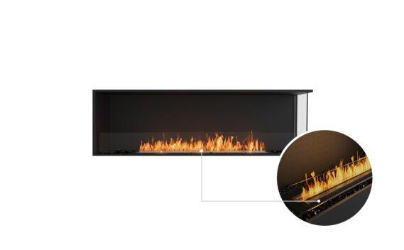 Flex 68RC Right Corner - Ethanol - Black / Black / Installed View by EcoSmart Fire