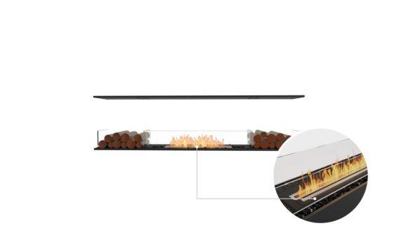 Flex 78IL.BX2 Island - Ethanol - Black / Black / Installed View by EcoSmart Fire