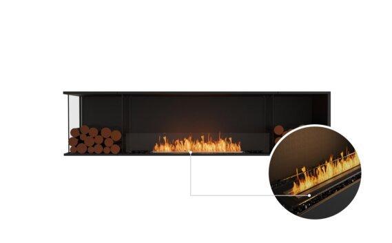 Flex 86LC.BX2 Left Corner - Ethanol - Black / Black / Installed View by EcoSmart Fire