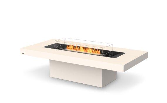 Gin 90 (Chat) Range - Ethanol - Black / Bone / Optional Fire Screen by EcoSmart Fire