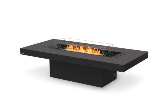 Gin 90 (Chat) Range - Ethanol - Black / Graphite / Optional Fire Screen by EcoSmart Fire