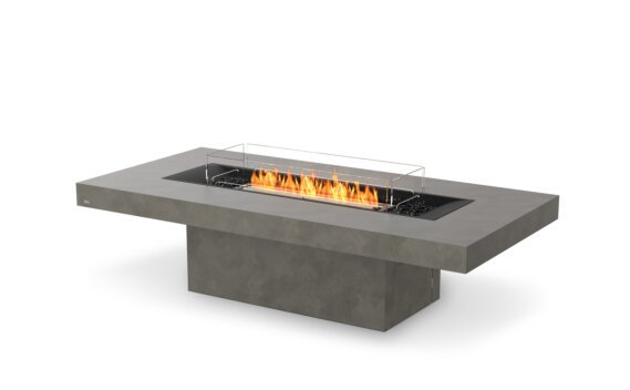 Gin 90 (Chat) Range - Ethanol - Black / Natural / Optional Fire Screen by EcoSmart Fire