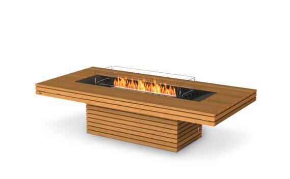 Gin 90 (Chat) Range - Ethanol - Black / Teak / Optional Fire Screen by EcoSmart Fire