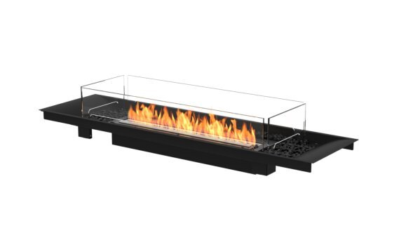 Linear Curved 65 Fireplace Insert - Ethanol - Black / Black / Indoor Safety Tray by EcoSmart Fire