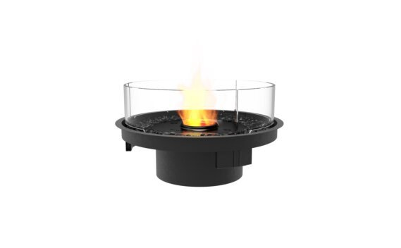 Round 20 Fireplace Insert - Ethanol - Black / Black / Indoor Safety Tray by EcoSmart Fire