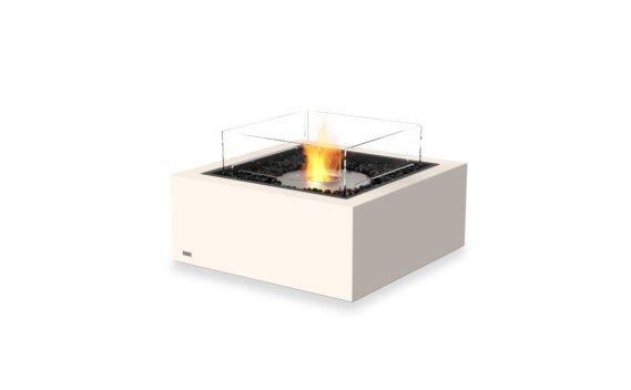 Base 30 Fire Pit - Ethanol / Bone / Optional Fire Screen by EcoSmart Fire
