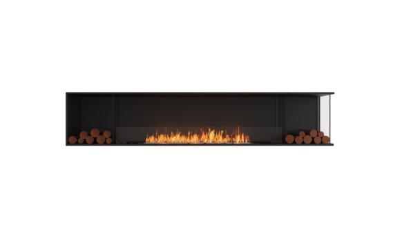 Flex 104RC.BX2 Right Corner - Ethanol / Black / Installed View by EcoSmart Fire
