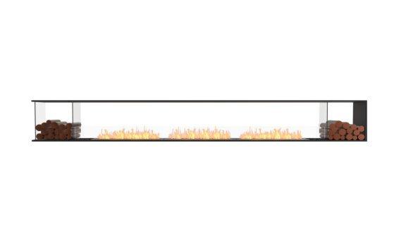 Flex 158PN.BX2 Peninsula - Ethanol / Black / Installed View by EcoSmart Fire