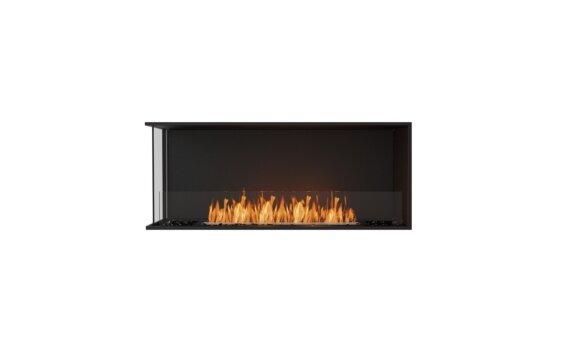 Flex 50LC Left Corner - Ethanol / Black / Installed View by EcoSmart Fire