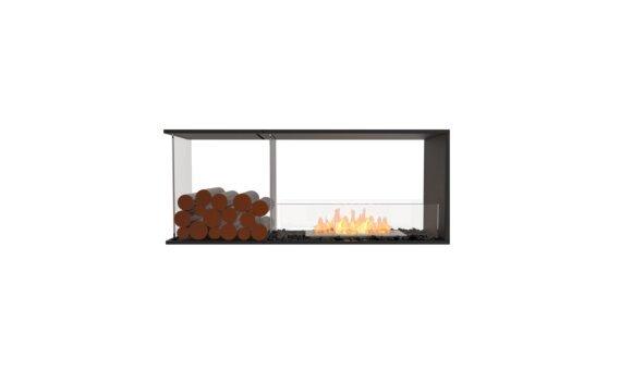 Flex 50PN.BXL Peninsula - Ethanol / Black / Installed View by EcoSmart Fire