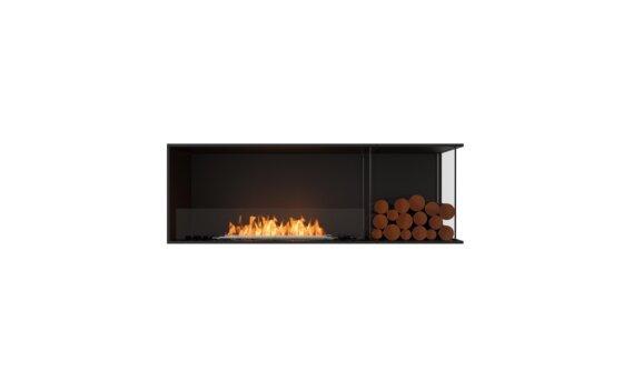 Flex 60RC.BXR Right Corner - Ethanol / Black / Installed View by EcoSmart Fire