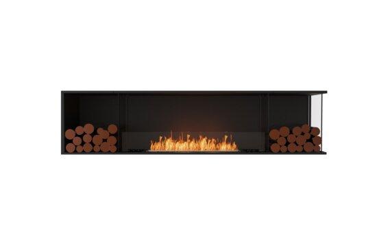 Flex 86RC.BX2 Right Corner - Ethanol / Black / Installed View by EcoSmart Fire