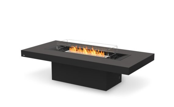 Gin 90 (Chat) Range - Ethanol / Graphite / Optional Fire Screen by EcoSmart Fire