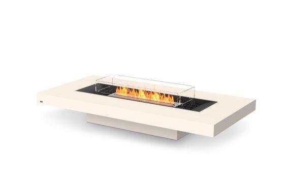 Gin 90 (Low) Fire Pit - Ethanol / Bone / Optional Fire Screen by EcoSmart Fire