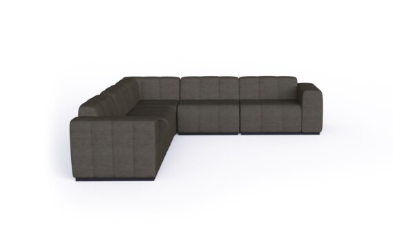 Connect Modular 5 L-Sectional Furniture - Flanelle by Blinde Design