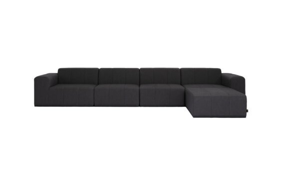 Connect Modular 5 Sofa Chaise Range - Sooty by Blinde Design