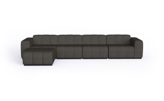 Connect Modular 5 Sofa Chaise Range - Flanelle by Blinde Design