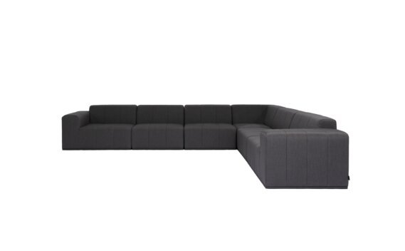 Connect Modular 6 L-Sectional Furniture - Sooty by Blinde Design