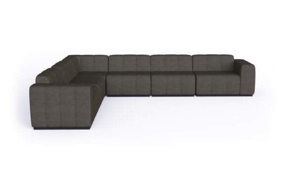 Connect Modular 6 L-Sectional Furniture - Flanelle by Blinde Design