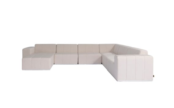 Connect Modular 7 U-Sofa Chaise Sectional Range - Canvas by Blinde Design