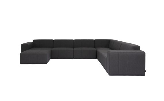 Connect Modular 7 U-Sofa Chaise Sectional Range - Sooty by Blinde Design