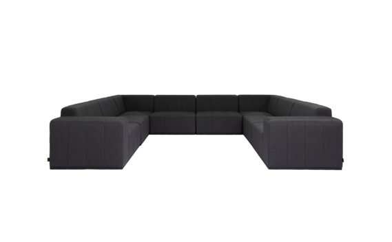 Connect Modular 8 U-Sofa Sectional Range - Sooty by Blinde Design