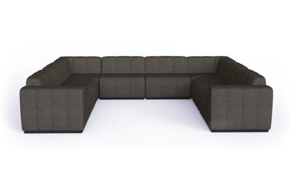 Connect Modular 8 U-Sofa Sectional Range - Flanelle by Blinde Design