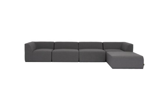 Relax Modular 5 Sofa Chaise Furniture - Flanelle by Blinde Design