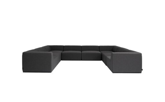 Relax Modular 8 U-Sofa Sectional Furniture - Sooty by Blinde Design