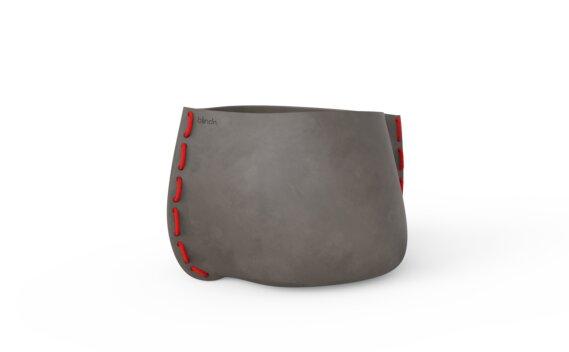 Stitch 75 Planter - Natural / Red by Blinde Design