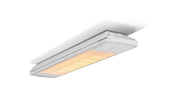 Spot 2800W Radiant Heater - White / White - Flame On by Heatscope Heaters