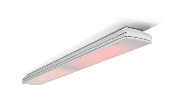 Vision 3200W Radiant Heater - White / White - Flame On by Heatscope Heaters