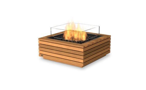 Base 30 Fire Pit - Gas LP/NG / Teak by EcoSmart Fire