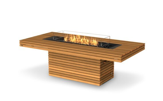 Gin 90 (Dining) Fire Pit - Gas LP/NG / Teak by EcoSmart Fire