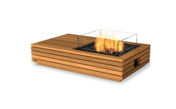 Manhattan 50 Fire Pit - Gas LP/NG / Teak by EcoSmart Fire