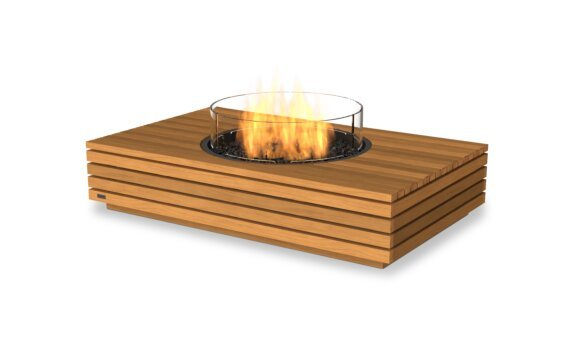 Martini 50 Fire Pit - Gas LP/NG / Teak by EcoSmart Fire