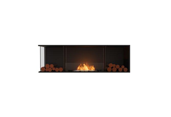 Flex 68LC.BX2 Left Corner - Ethanol / Black / Installed View by EcoSmart Fire