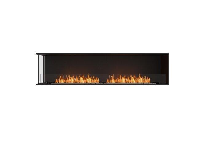 Flex 86LC Left Corner - Ethanol / Black / Installed View by EcoSmart Fire